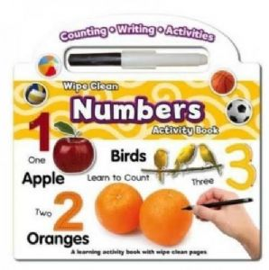 Wipe Clean Learning Activity Book Numbers with Pen
